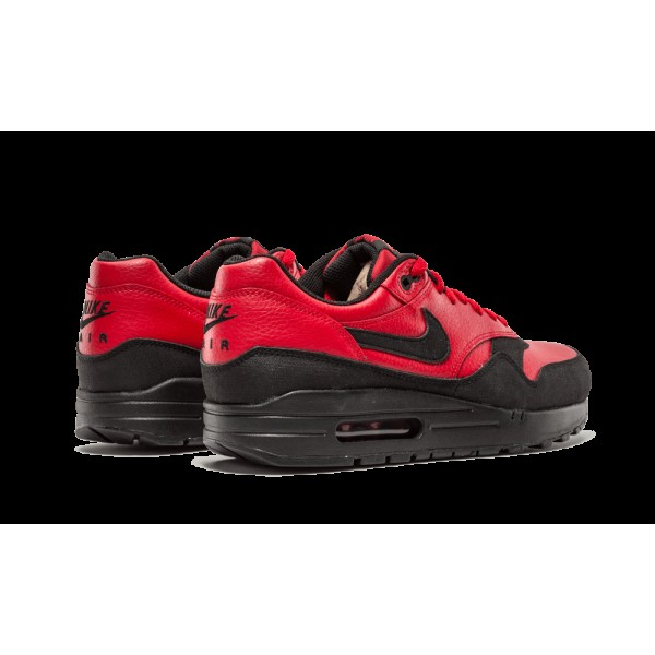 Nike Air Max 1 LTR Leather Premium Gym Rouge Noir 705282-600