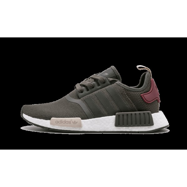 Adidas NMD_R1 Femme Olive/Rouge/Gris/Blanche BA775...