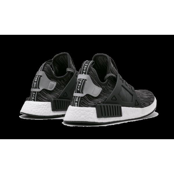 Adidas Homme NMD_XR1 Primeknit Noir/Argent S77195