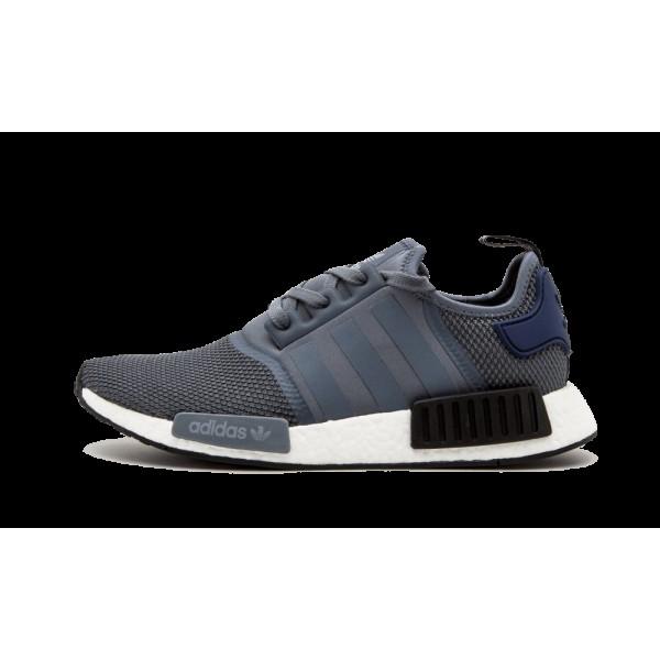 Adidas NMD_R1 Gris/Bleu/Noir Runner Chaussures S76842