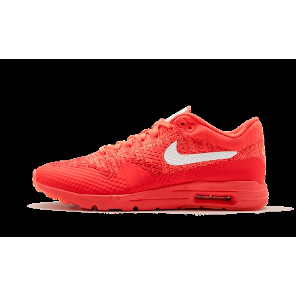 Nike Femme Air Max 1 Ultra Flyknit Bright Crimson/Blanche/Rouge 843387-601