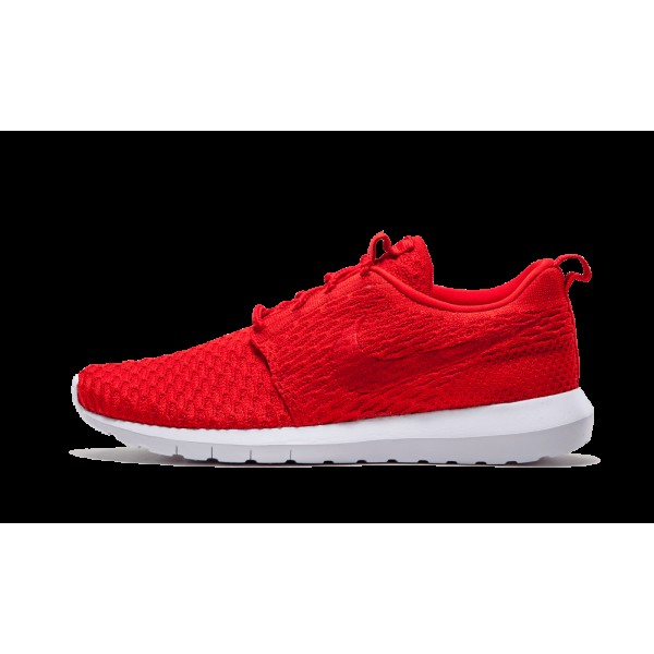 Homme Nike Roshe Flyknit Chaussure in Rouge 677243-603