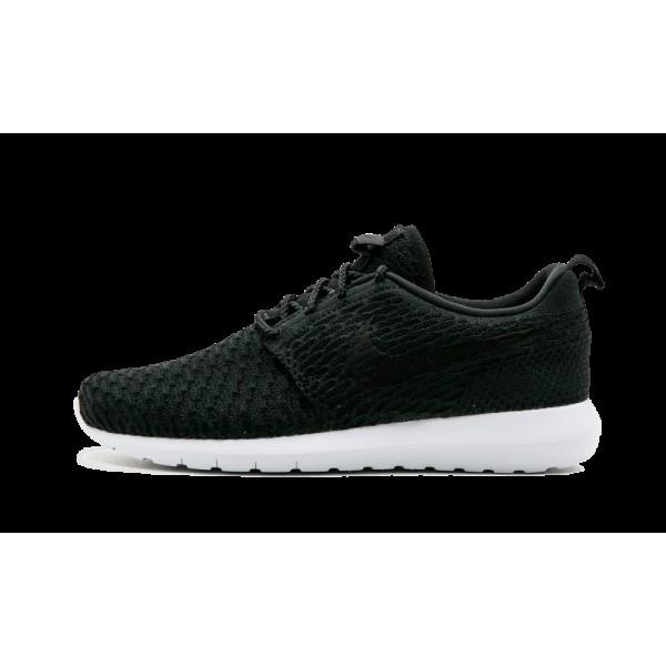 Homme Nike Roshe NM Flyknit Noir Blanche 677243-01...