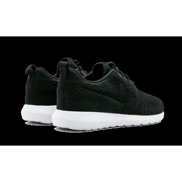 Homme Nike Roshe NM Flyknit Noir Blanche 677243-011