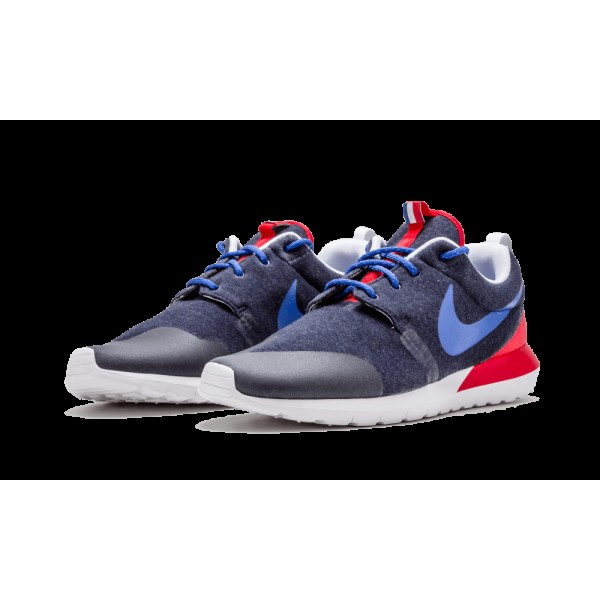 652804-446 Nike Roshe Run SP France For Chaussures de Homme Marine Heather Gym Royal Rouge