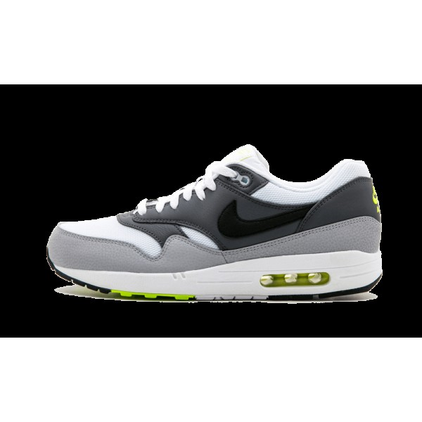 Homme Nike Air Max 1 Essential Blanche Back Gris f...
