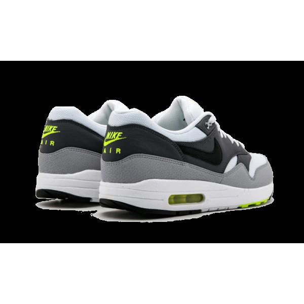 Homme Nike Air Max 1 Essential Blanche Back Gris foncé 537383-128