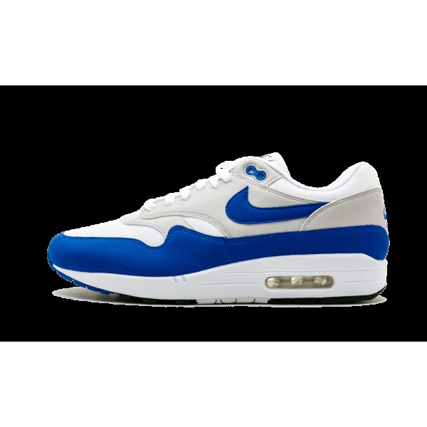 Nike Air Max 1 Og Anniversary Blanche Game Royal 9...