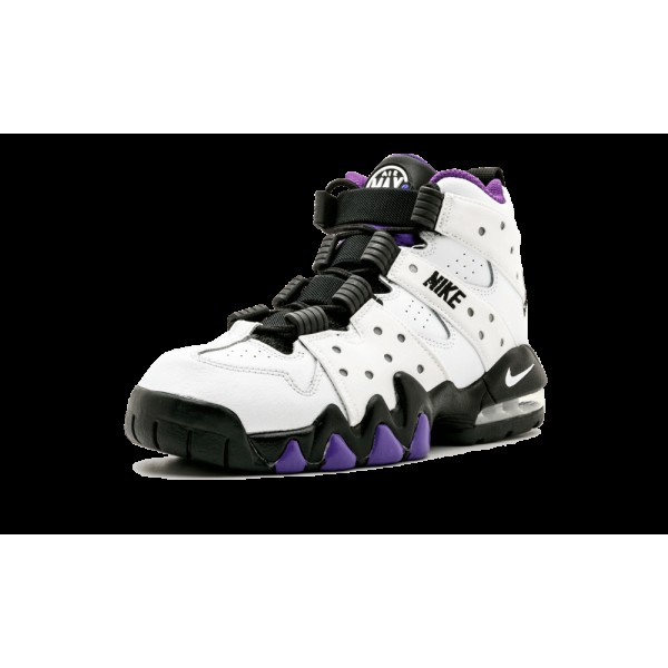 309560-105 Kids Nike Air Max CB 94 BARKLEY Chaussures Blanche/Noir/Pourpre