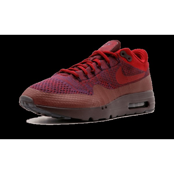 Nike Air Max 1 One Ultra Flyknit 856958-566 Grand Pourpre Team Rouge
