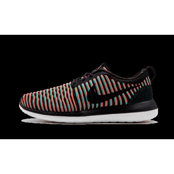 Nike Roshe Two Flyknit Noir/Bright Crimson/Clear J...
