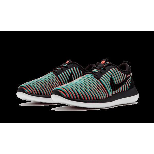 Nike Roshe Two Flyknit Noir/Bright Crimson/Clear Jade 844833-003