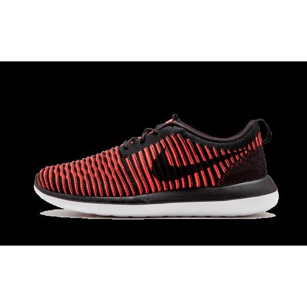 Nike Roshe Two 2 Flyknit 844833-006 Noir Bright Cr...