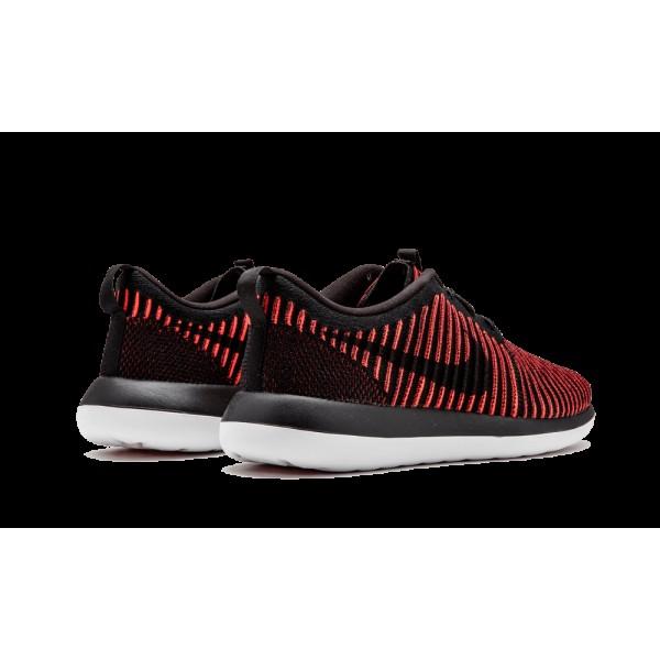 Nike Roshe Two 2 Flyknit 844833-006 Noir Bright Crimson DS
