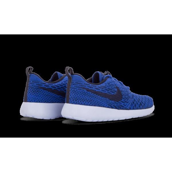 Nike Roshe One Flyknit 704927-400 Game Royal Bleu/Obsidian Foncé/Noir Chaussures de running pour Femme