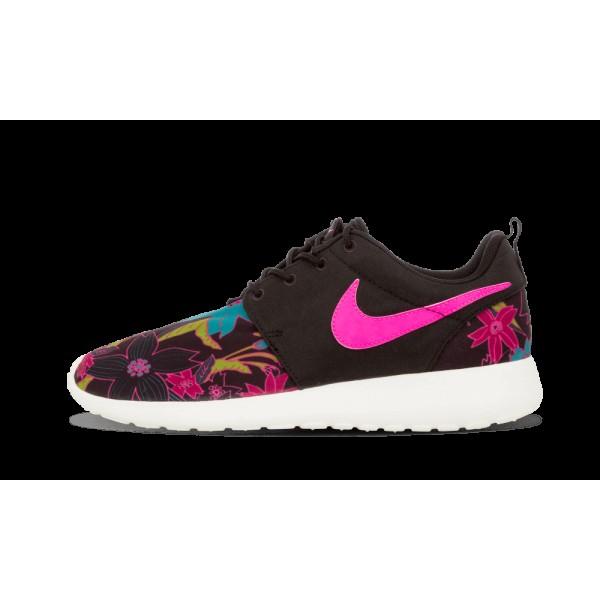 Nike Femme Roshe One Print PREM Noir/Rose Foil/Voi...