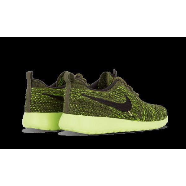 Nike Femme Roshe One Flyknit Chaussures 704927 301 Vert Volt