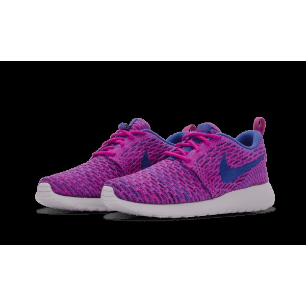 Nike Femme Roshe One Flyknit Fuchsia/Flash/Game Royal 704927-501