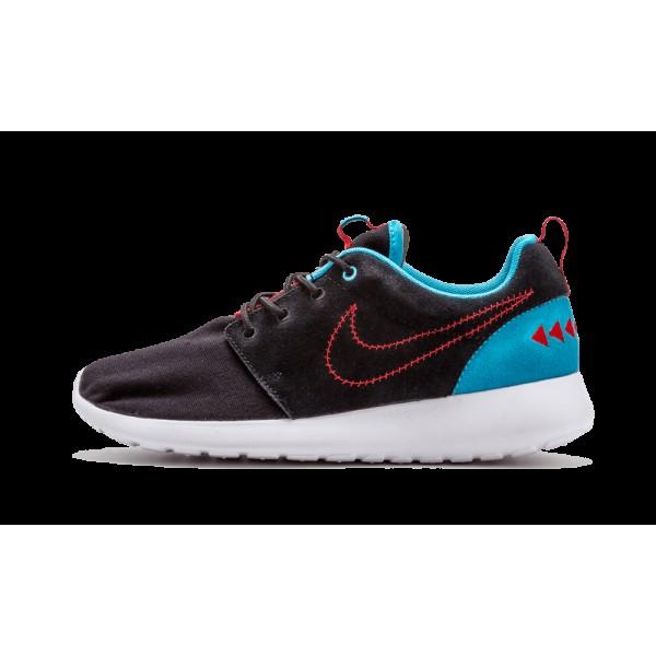 Nike Roshe Run One N7 Noir Turquoise Rouge 746654-...