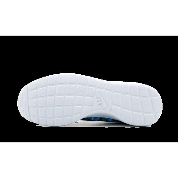 833620-410 Nike Roshe One Print Premium Chaussure de running Loyal Bleu/Blanche