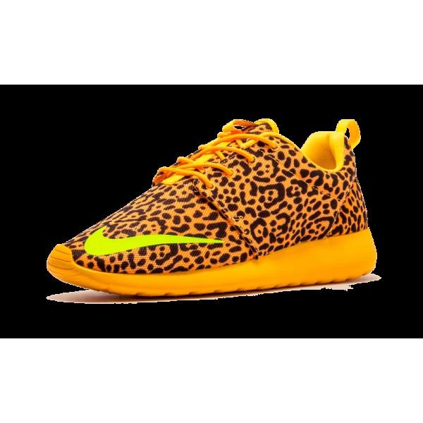 Nike Roshe Run FB Leopard Bright Citrus Lime 580573-838