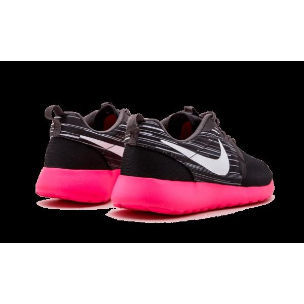 Homme Nike Roshe Run Hyperfuse Noir/Blanche/Cendre moyen/Hyper rose 636220-002
