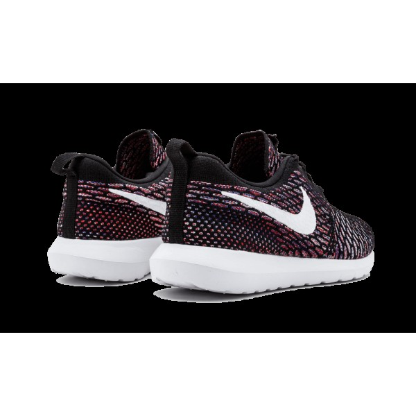 Homme Nike Roshe Nm Flyknit Chaussure Noir/Blanche/Rouge 677243-016