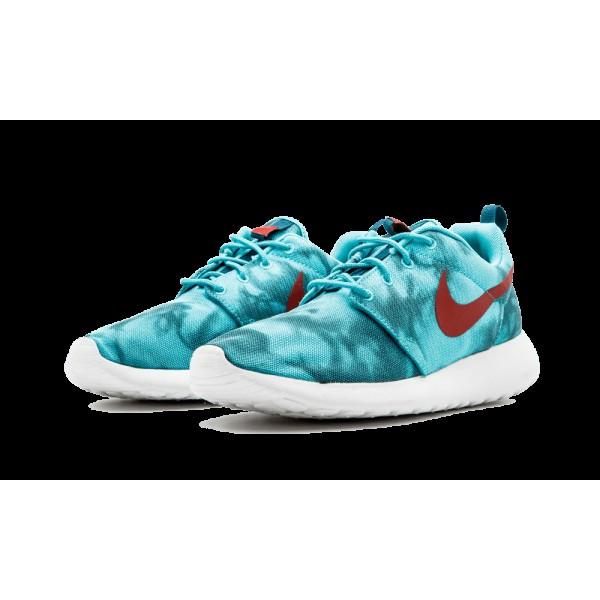 655206-346 Homme Nike Roshe Run Print Hyper Jade/Cedar/Space Bleu/Hyper Crimson