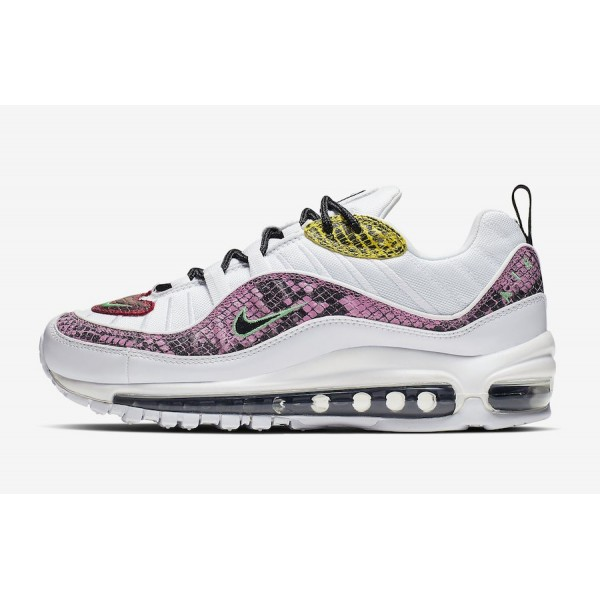Nike Air Max 98 WMNS White/Pink/Yellow Shoes BV197...