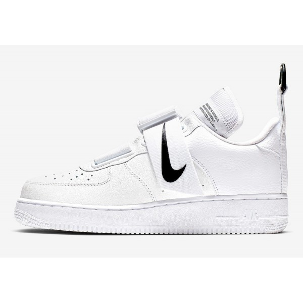 Nike Air Force 1 Utility White/White-Black Shoes A...