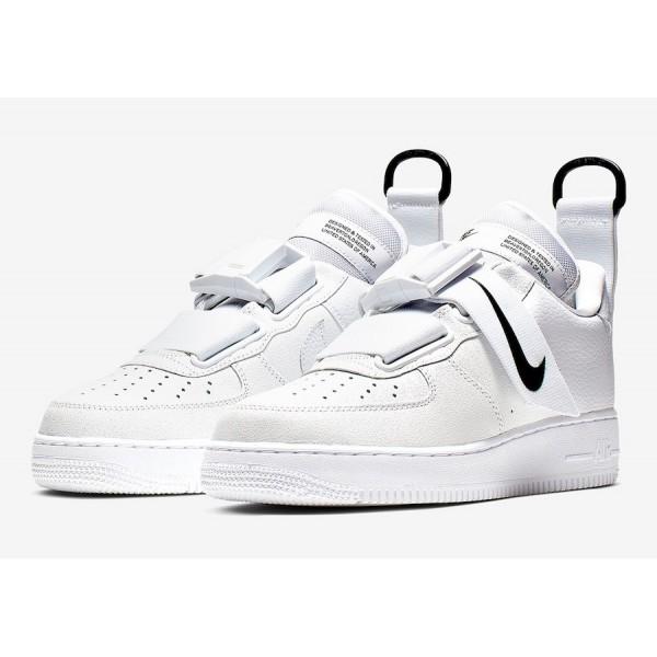 Nike Air Force 1 Utility White/White-Black Shoes AO1531-101
