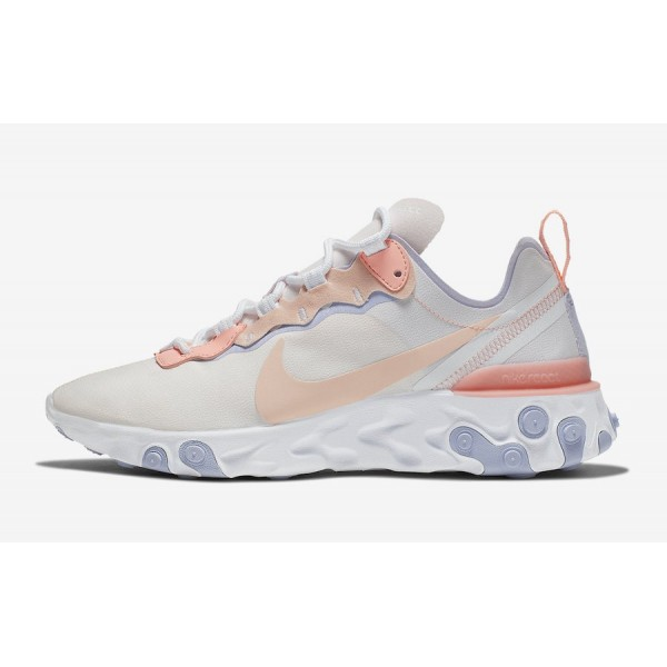 Nike WMNS React Element 55 Pink Shoes BQ2728-601