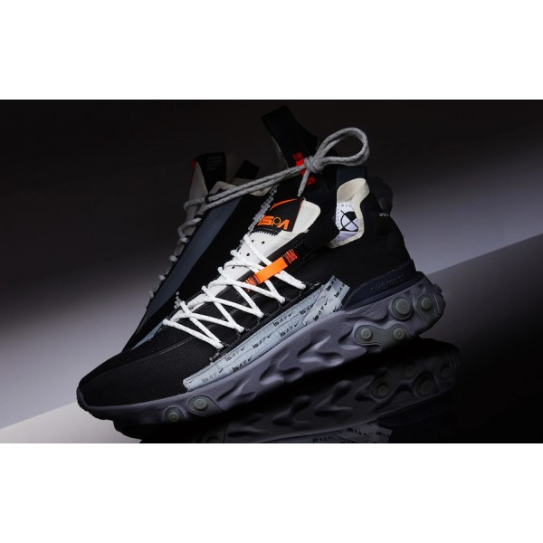 Nike React WR ISPA Black/Metallic Silver Shoes AR8...