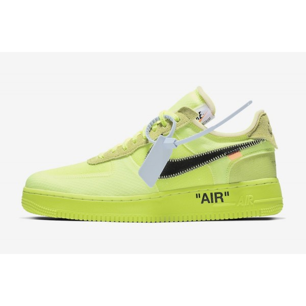 Off-White x Nike Air Force 1 Low Volt Noir Chaussu...