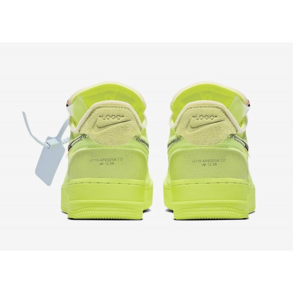 Off-White x Nike Air Force 1 Low Volt Noir Chaussures AO4606-700