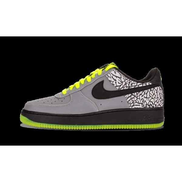 Nike Air Force 1 Low Premium Métallique Argent/No...
