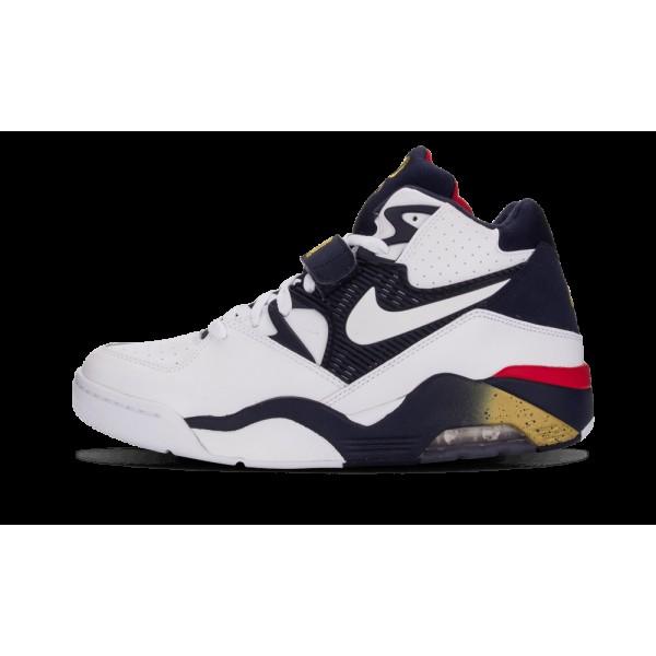 Nike Air Force 180 Blanche/Midnight Marine/Or mét...