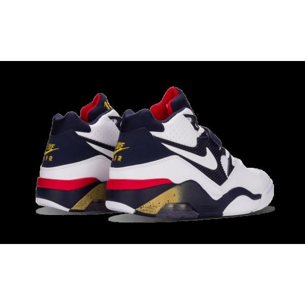 Nike Air Force 180 Blanche/Midnight Marine/Or métallique/Varsity Rouge 310095-100