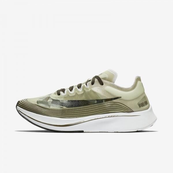 Nike Zoom Fly SP Light Bone Noir Olive Chaussures ...