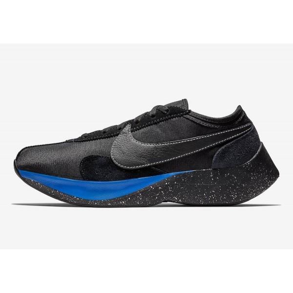 Nike Moon Racer QS Noir Racer Bleu Chaussures BV77...