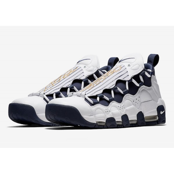 "Nike Air More Money ""The Bronx"" Blanche Midnight Navy Chaussures Homme AR5401-100"