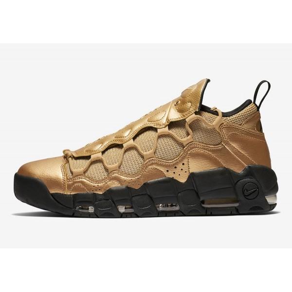 Nike Air More Money Metallic Gold Noir Chaussures ...