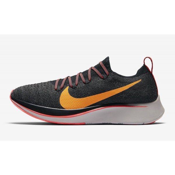 Nike Zoom Fly Flyknit Noir Orange Peel Chaussures ...