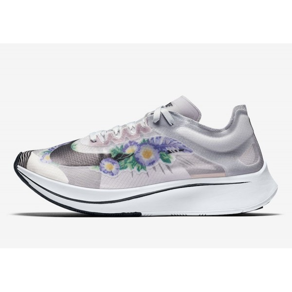 Nike Zoom Fly SP Floral Blanche Noir Chaussures Fe...