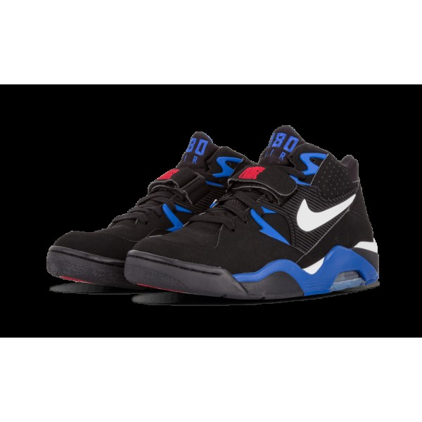 310095-011 Homme Nike Air Force 180 Chaussure Noir/Blanche/Sport Royal/Rouge