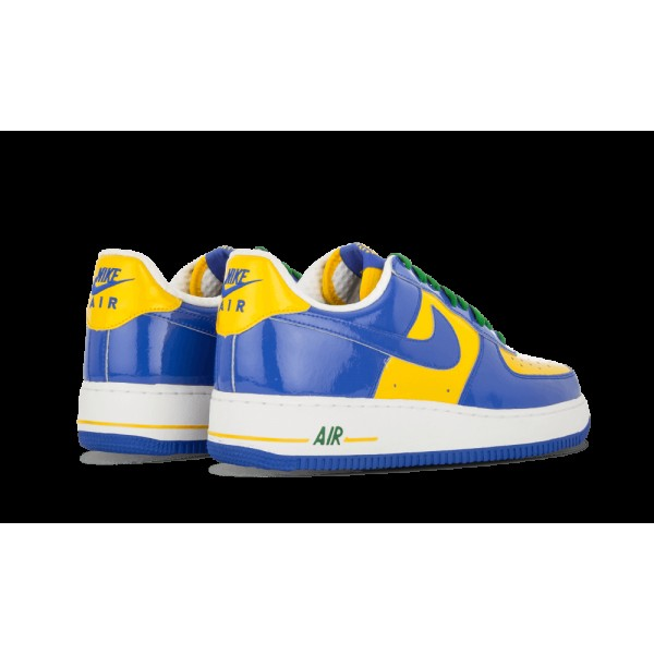"Nike Air Force 1 Premium ""Brazil World Cup"" 309096-441 Varsity Royal/Maize/Classic Vert"