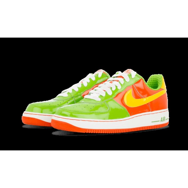 312945-372 Nike Air Force 1 Premium Vert Bean/Varsity Maize/Deep Orange