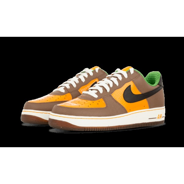 Nike Air Force 1 Premium Shock Orange/Noir/Bison 312945-801