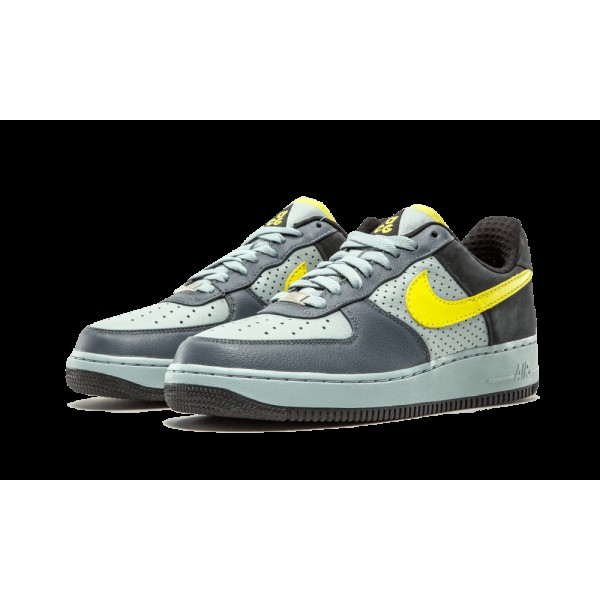 "318775-071 Nike Air Force 1 07 Low PRM ACG ""Wildwood"" Sonic Jaune Flint Gris"