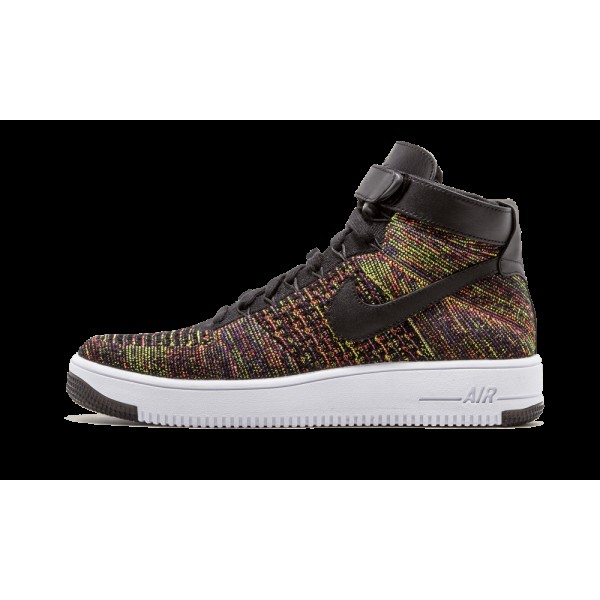 Nike AF1 Ultra Flyknit Mid Chaussures de Homme Noi...